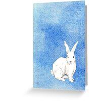 Rabbit Blue Greeting Card