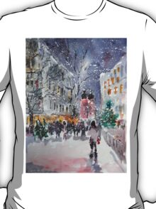 Snowing At Christmas Time T-Shirt