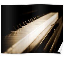Sepia Piano Keyboard Poster