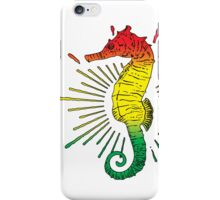 Seahorse with Reggae Music Flag Colors! iPhone Case/Skin