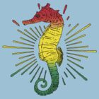 Seahorse with Reggae Music Flag Colors! by Denis Marsili - DDTK