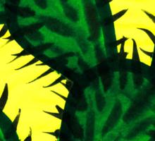 Chinese brush painting - Opuntia cactus. Sticker