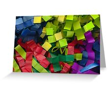 Colorful cut tissue paper Greeting Card
