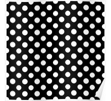 Black and White Polka Dot Pattern Poster