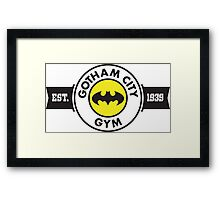 Batman - Gotham City Gym Framed Print