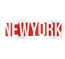 NEW YORK red/white Poster