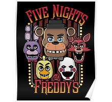 Five Nights At Freddy's Pizzeria Multi-Character Poster