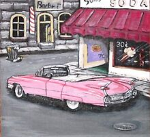 Pink Cadillac by Louise Henning