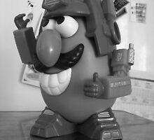 potato heads without a mask. by Michelle Whelan