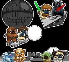pug wars by darklordpug