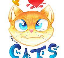 I LOVE CATS by MariaDaregin