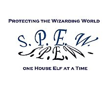 SPEW - Protecting the Wizarding World Photographic Print
