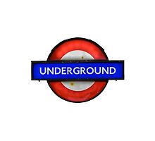 Isolated Grungy London Underground Sign by mrdoomits