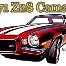 1971 Z28 Camaro T-Shirt & More by ChasSinklier