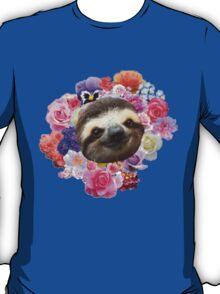Floral Sloth T-Shirt