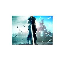 Final fantasy VII- Zack and Cloud Photographic Print