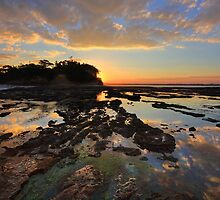 Magnificent colours and reflections at Plantation Point sunset by Leah-Anne Thompson