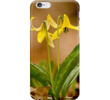 Dogs Tooth Lily - Erythronium iPhone Case/Skin