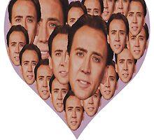 Nicholas Cage - Valentine's Day by TenaciousTees