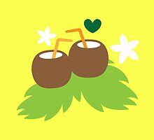 cute coconuts tropical drinks by jazzydevil