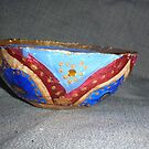 Side view of Paper Mache bowl by Redviolin