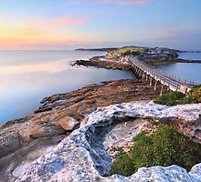 Sunrise at Bare Island, Australia seascape landscape by Leah-Anne Thompson