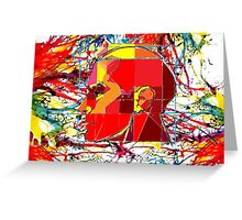 Thinking color 2000  Greeting Card