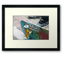 Skateboarding is not a Crime Framed Print