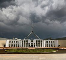 Storm over Parliament House - Canberra by Hans Kawitzki