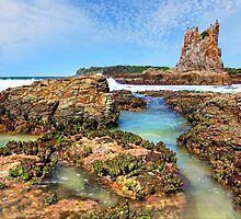 Cathedral Rocks Kiama Downs Australia seascape by Leah-Anne Thompson