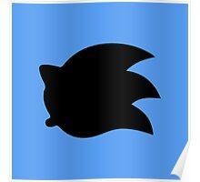 Sonic the Hedgehog Symbol - Super Smash Bros. (black) Poster
