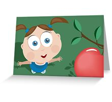 Girl wants an apple! Greeting Card