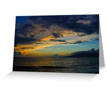 Another Kaanapali sunset Greeting Card