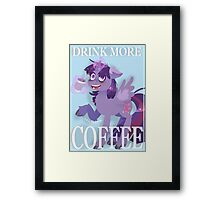Drink More Coffee Framed Print