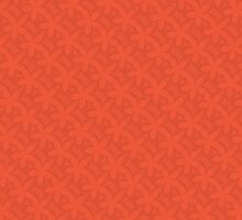 Rusty Orange Floral Pattern by solnoirstudios