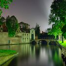 Beginhof Bridge in Brugges, Belgium by Suraj Mathew