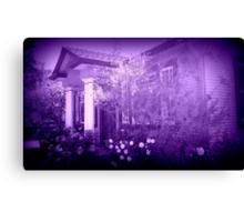 Vera's Hideaway, purple Canvas Print