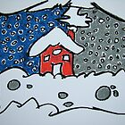 Winter House by Pat  Lackenbauer