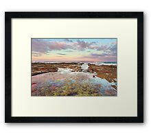 Pink sunset at Vincentia NSW Australia seascape landscape Framed Print