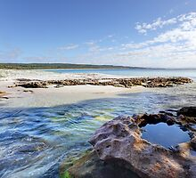 Flat Rock Creek, Hyams Beach Australia landscape seascape by Leah-Anne Thompson