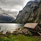Boathouse at Obersee 1 by Charles Kosina
