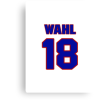 National baseball player Kermit Wahl jersey 18 Canvas Print
