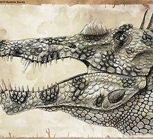 Spinosaurus Head Study by Thedragonofdoom