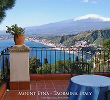 Mount Etna - Taormina, Sicily (Textured Canvas Finish) by Brian Farrell