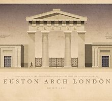 Euston Arch London by Justin Fagence