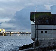 Mumbles Pier at Sundown by bidkev1
