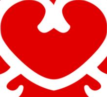 Zelda Skyward Sword Heart (red) Sticker