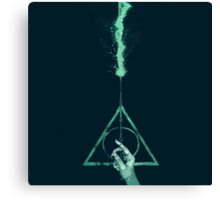 Expecto Patronum Harry Potter Deathly Hallows Canvas Print
