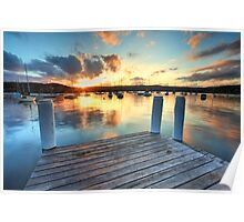 Point Frederick Gosford Australia sunset  seascape Poster