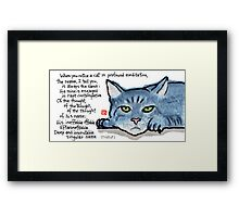The Naming of Cats (Eliot's Cats Series) Framed Print